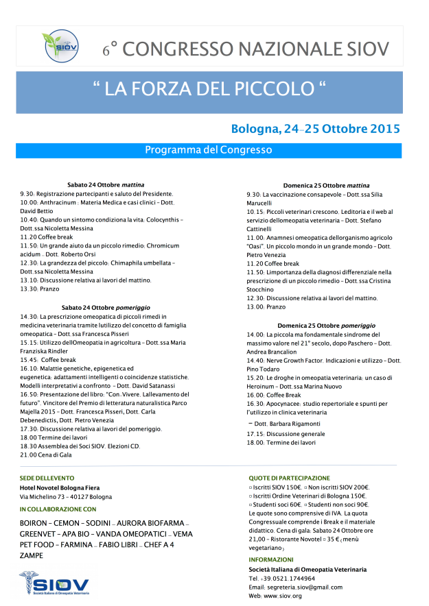 Brochure congresso SIOV 2015