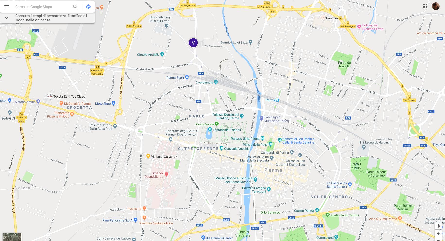 mappa istituto Alfieri