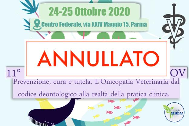 logo CONGRESSIO 2020 siov ANNULLATO